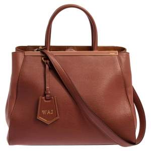 Fendi Old Rose Leather Medium 2Jours Tote