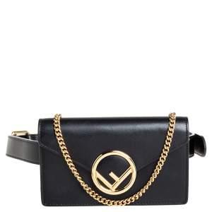 Fendi Black Leather Kan I Belt Bag