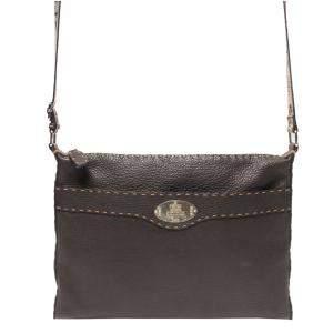Fendi Brown Leather   Shoulder Bags