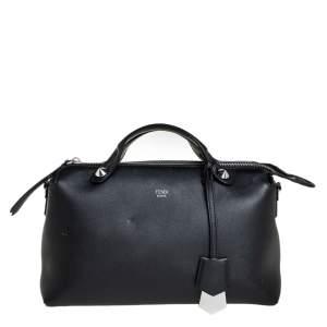 حقيبة فندي باي ذا واي جلد أسود صغيرة