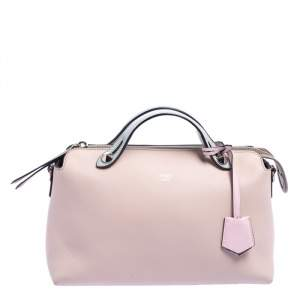 Fendi Pink/Blue Leather Small By The Way Boston Bag