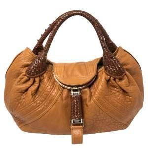 Fendi Tan/Brown Nappa Leather Spy Hobo