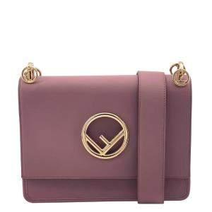 Fendi Pink Leather Kan I Shoulder Bag