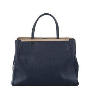 Fendi Black/Brown Leather 2Jours Satchel Bag