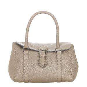 Fendi Brown Leather Linda Bag
