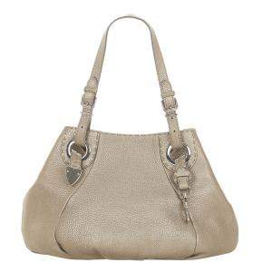 Fendi Brown Calf Leather Selleria Shoulder Bag
