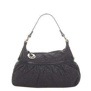 Fendi Black Calf Leather Shoulder Bag