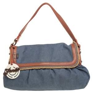 Fendi Blue Denim Chef Shoulder Bag