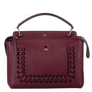 Fendi Red Nappa Leather Dotcom Satchel Bag