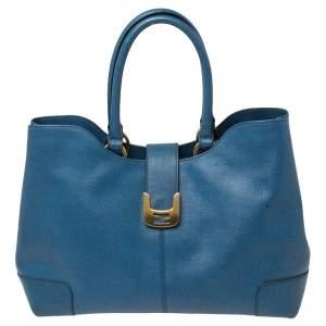 حقيبة يد فندي شوبر شامليون جلد أزرق