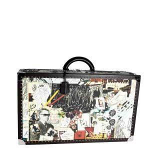 Fendi Multicolor Karl Kollage Travel Trunk Suitcase