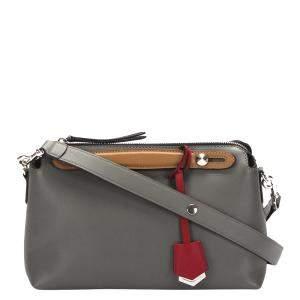 Fendi Grey Leather By The Way Satchel Bag