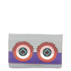 Fendi Blue/ Light Blue Hypnoteyes Leather Wallet on Chain Bag