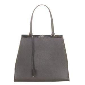 Fendi Grey 3Jours Leather Tote Bag
