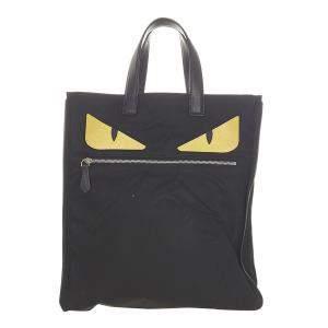 Fendi Black Monster Nylon Tote Bag