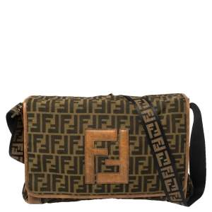 Fendi Tobacco Zucca Canvas Messenger Bag