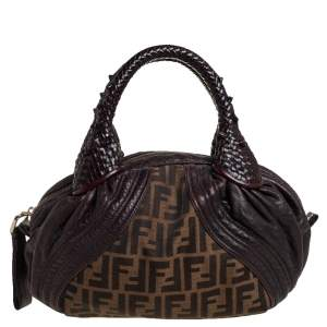 Fendi Tobacco Zucca Canvas and Leather Baby Spy Bag