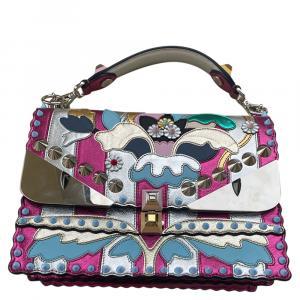 Fendi Multicolor Leather Kan I Wonder Shoulder Bag