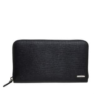 محفظة فندي أورغانيزر جلد أسود بسحاب