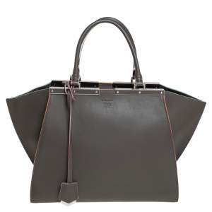 Fendi Taupe Leather 3Jours Large Tote
