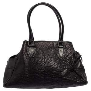 Fendi Black Textured Leather Medium Chef De Jour Bag