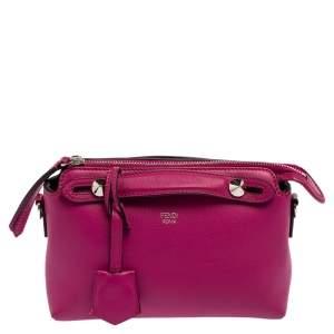 Fendi Fuchsia Leather Mini By The Way Crossbody Bag