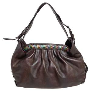 Fendi Brown Leather Doctor Hobo Bag