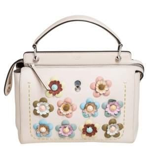 Fendi Multicolor Leather Medium Flowerland Dotcom Top Handle Bag