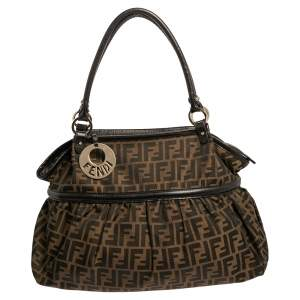 Fendi Tobacco Zucca Canvas and Leather Large Chef Tote