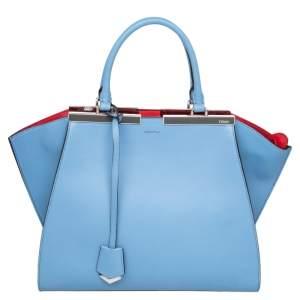 Fendi Blue Leather Medium 3jours Tote