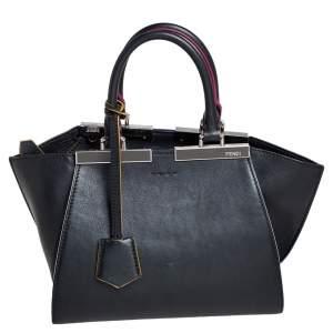 حقيبة يد توتس فندي ميني 3جورز جلد أسود