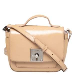 Fendi Nude Patent Leather Mini Borsa Crossbody Bag