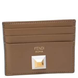 Fendi Multicolor Leather Rainbow Stud Card Holder