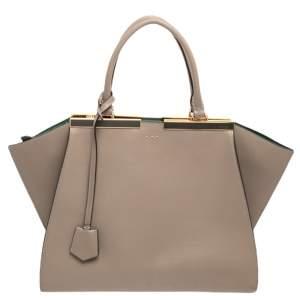 Fendi Beige Leather 3Jours Large Tote Bag