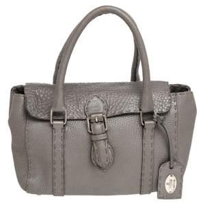 Fendi Grey Leather Linda Bag
