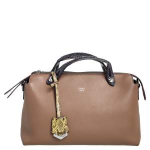 Fendi Multicolor Leather and Python Small By The Way Satchel