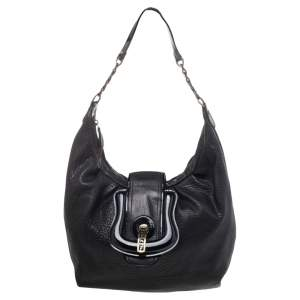 Fendi Black Patent Leather And Leather B Bag Hobo