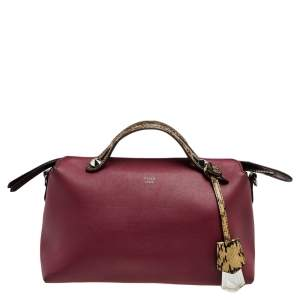 Fendi Burgundy Leather Small By The Way Shoulder Bag