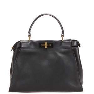 Fendi Black Leather Peakaboo Bag