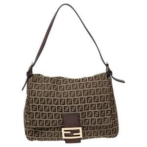 Fendi Brown Zucca Canvas Big Mama Forever Shoulder Bag