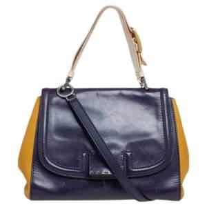 Fendi Tricolor Leather Silvana Top Handle Bag