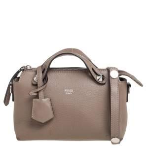 Fendi Beige Leather Mini By The Way Crossbody Bag