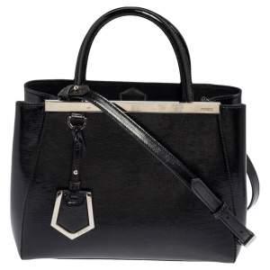 Fendi Black Patent Leather Mini 2jours Tote