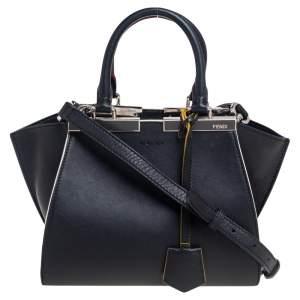 Fendi Black Leather Mini 3Jours Tote