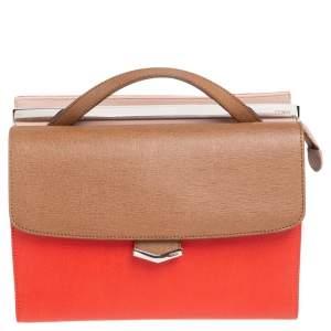 حقيبة كتف فندي دمي جور صغيرة جلد منقوش ثلاثي اللون