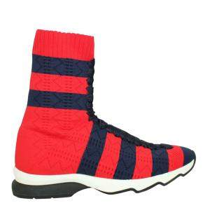 Fendi Red Leather Rockoko  Sneakers