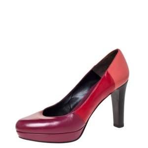 Fendi Tricolor Leather Platform Pumps Size 38.5