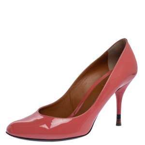 Fendi Pink Patent Leather Round Toe Pumps Size 41