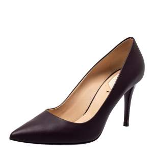 Fendi Purple Leather Pointed Toe Pumps Size 39