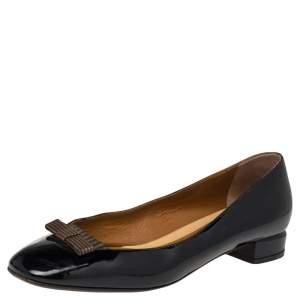 Fendi Black Patent Leather Ballet Flats  Size 39